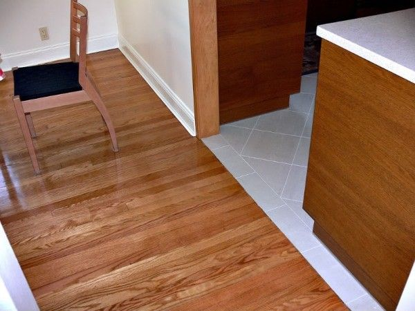 Two-Tone Floor: Laminate And Tile | Flooring | Pinterest