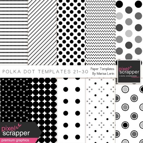 Polka Dot Paper Templates Kit (21-30) Pixelscrapper Pinterest - dot paper template