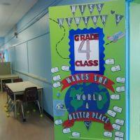 "Grade 4- ""Around the World"" Theme Classroom Door Decor ..."