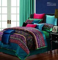 Egyptian cotton vintage paisley comforter bedding set king ...