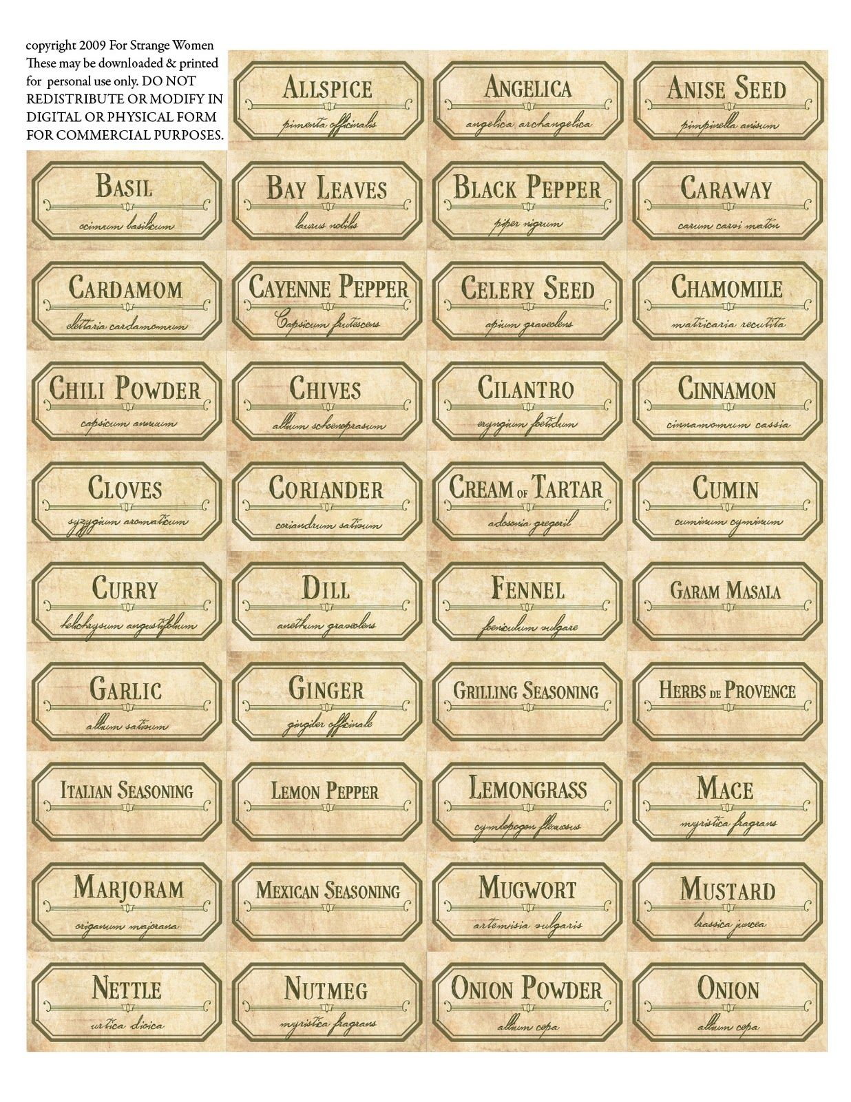 Etiketten Voor Kruidenpotjes Free Labels Printable The Same Free To Download And