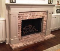 Traditional Mantel with Brick Face and Semi-flush Brick ...