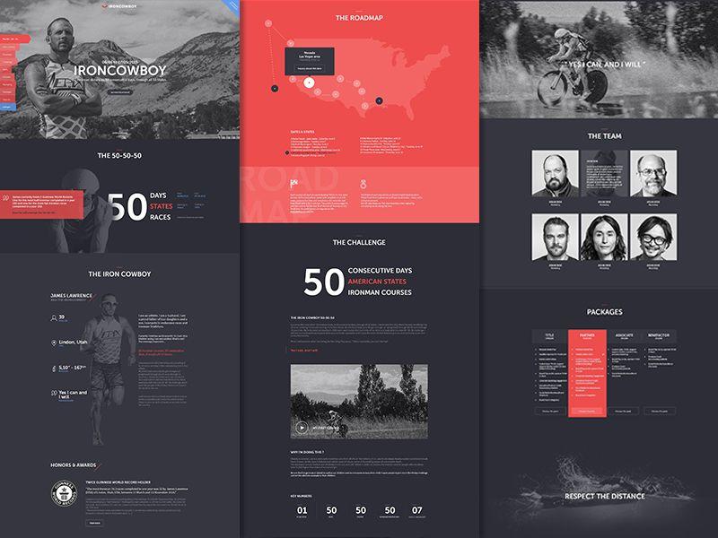 Ironman Ui design, Ui ux and Ui inspiration - athlete sponsorship proposal template