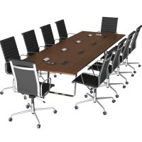 Free 3D Model Conference Table & Chairs   3DSquirrel.co.uk ...