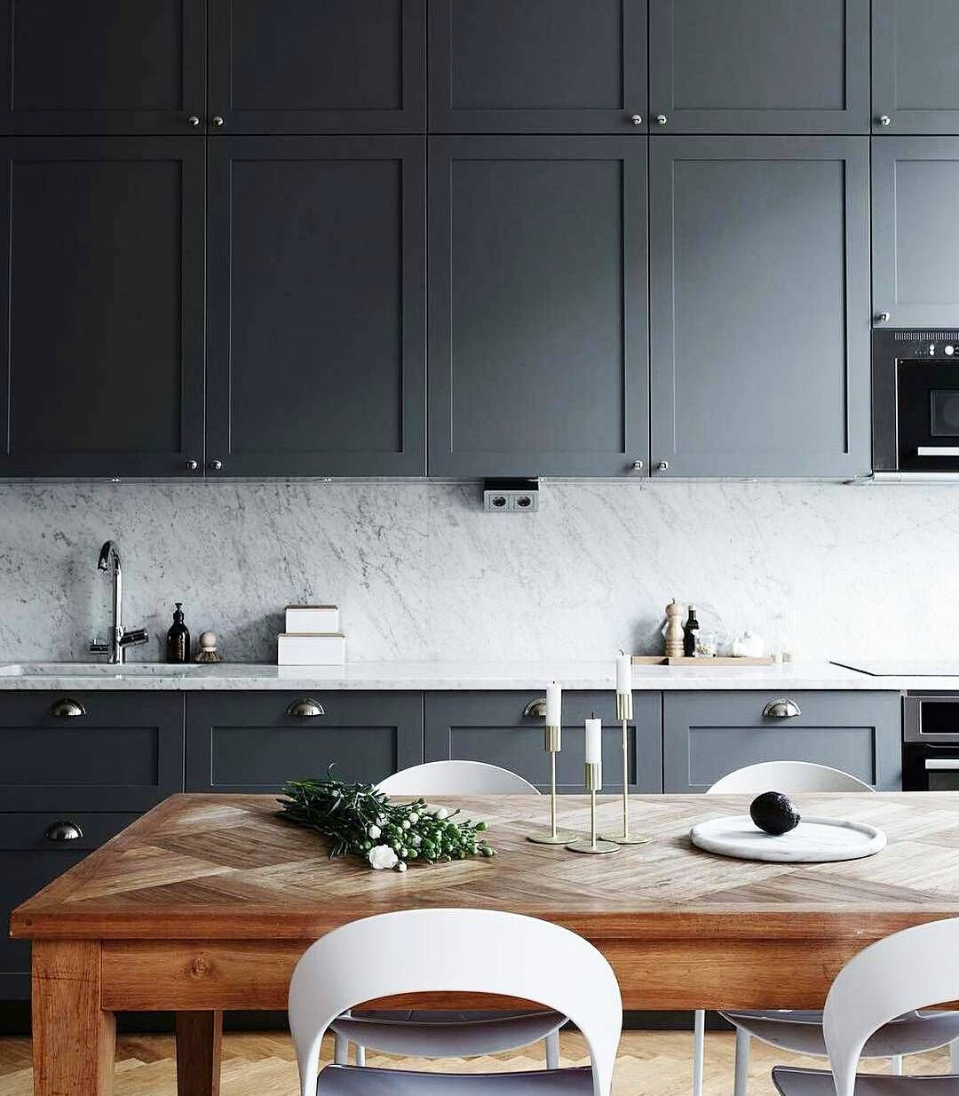 Matte Kitchen Cabinets Matte Charcoal Gray Cabinets Dark Cabinets Never Looked