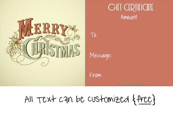 Gift Certificate Template Beautiful Printable Gift Certificate - christmas gift certificates templates