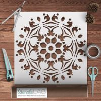 Decorative Symmetrical Mandala Style Stencil - Furniture ...