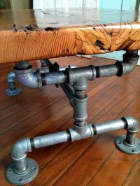 Reclaimed Barn Wood Table, Coffee table, Galvanized pipe ...