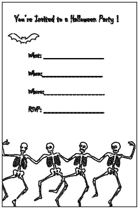Free Halloween Party Invitation Printables , Devil, Free Halloween - halloween invitation template