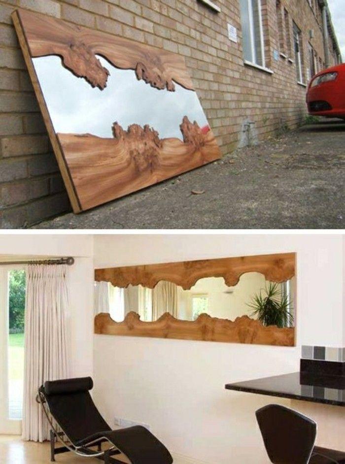 diy moebel kreative wohnideen spiegel mit rahmen aus holz DIY - wohnideen zum selber bauen