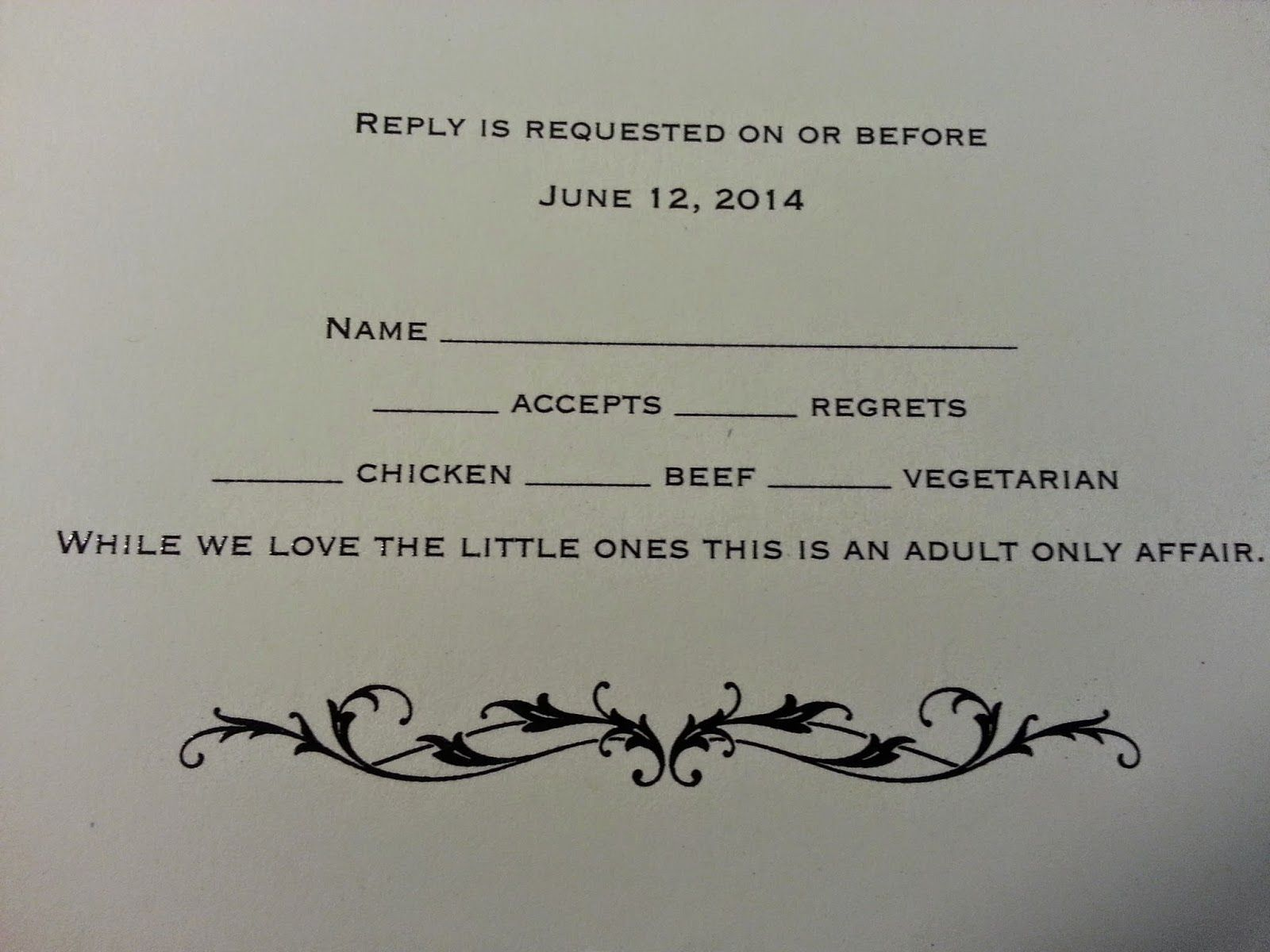 reception only wedding invitations The scorns of a Adult Only wedding reception