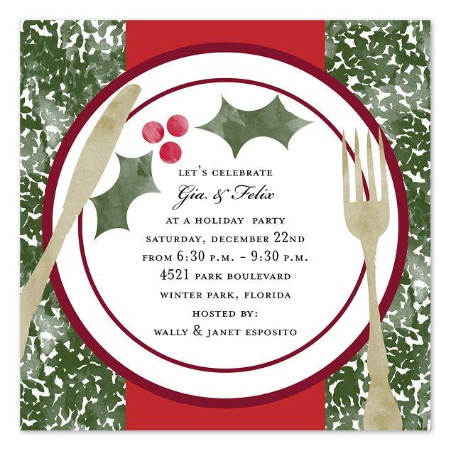 Christmas Dinner Invitation Template Free Holiday Dinner - lunch invitation templates