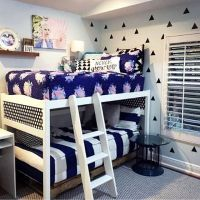 Boy girl shared room. Bunk beds NEED Beddy's zipper ...