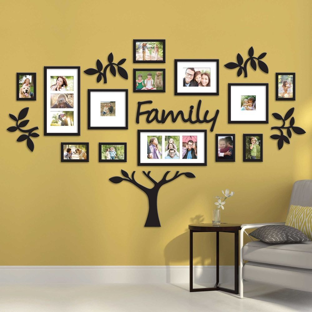 Hallway Family Tree Collage Picture Photo Wall Art Large
