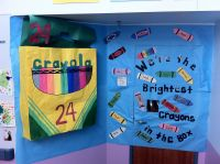 Crayon door decoration for back to school! Used skinny
