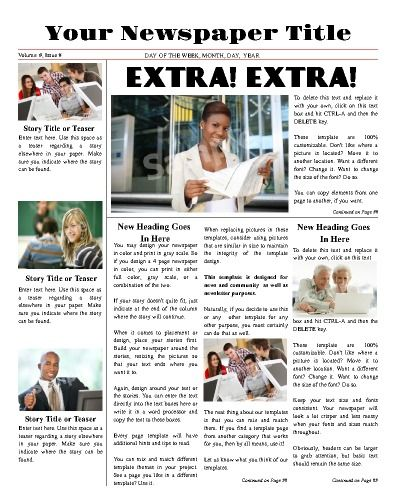 All-purpose front page template Try this 11 - online newspaper template