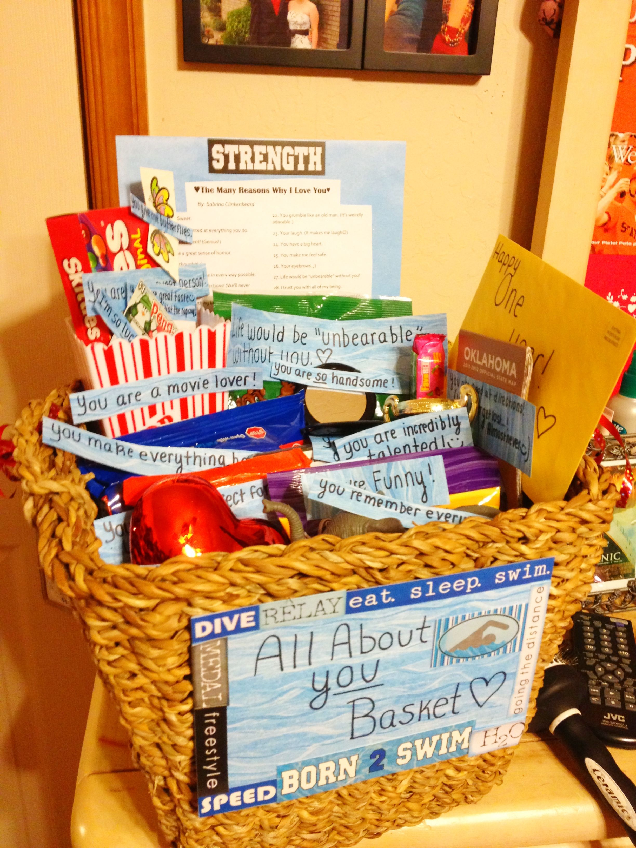 Diy Gift Ideas For Girlfriend All About You Basket For An Anniversary Very Sweet And