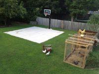 Backyard basketball on a concrete slab. Well done ...