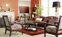 Pier 1 living room with the Abbie Sofa in Chocolate and ...