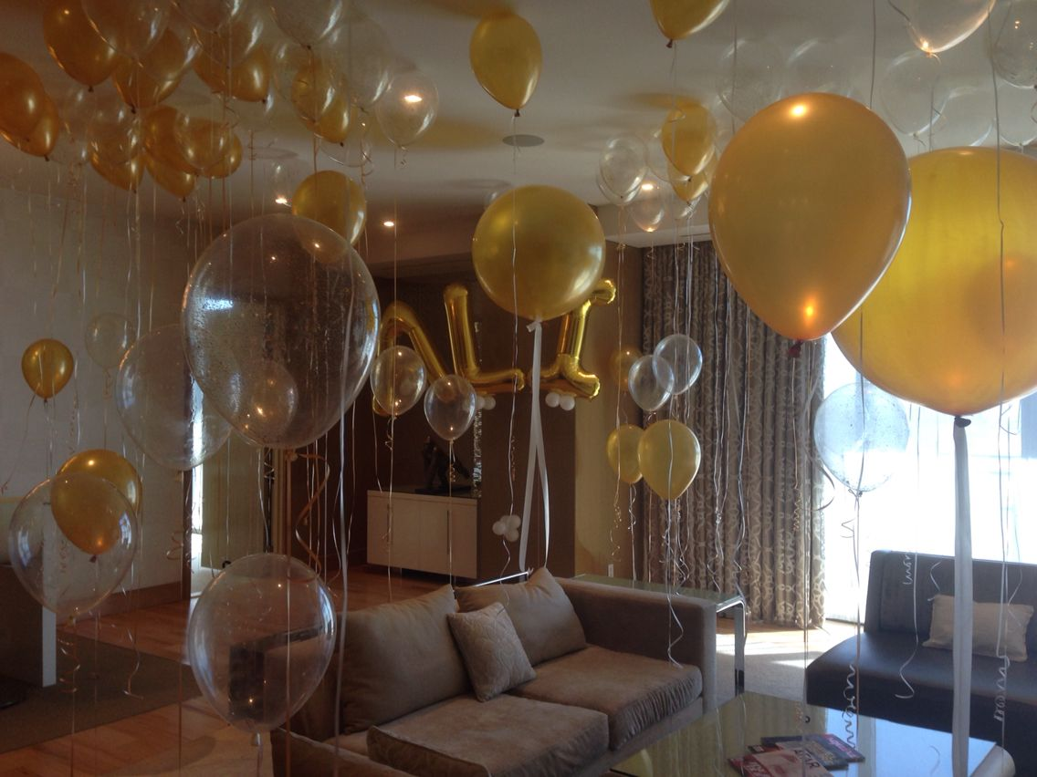 Decoration Hotel Hotel Room Full Of Balloons For 21st Birthday Party