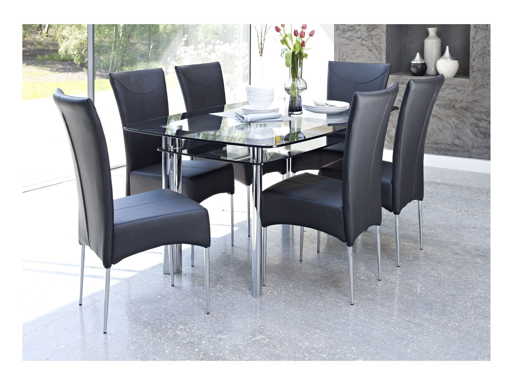 Black Dining Table And Chairs Glass Dining Table With Black Chairs Whatever