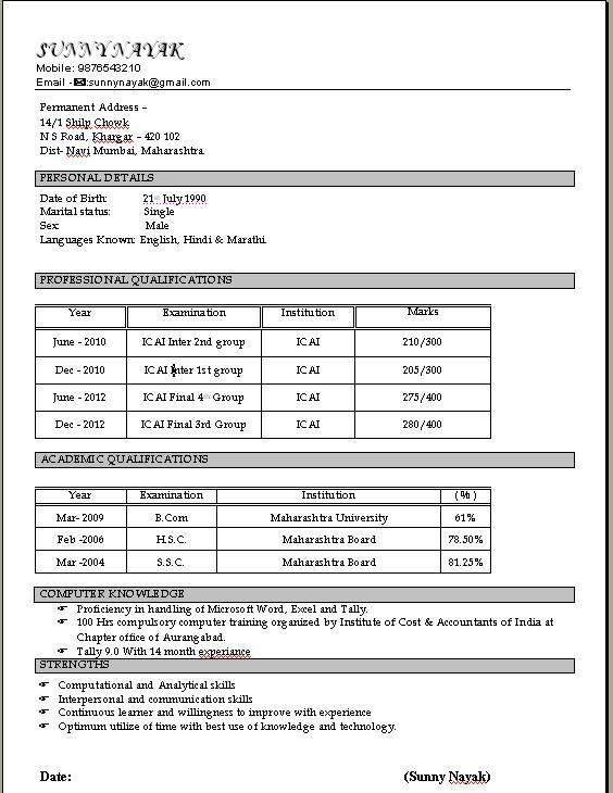 Best Resume Format For Freshers Civil Engineers niveresume - resume formats for engineers
