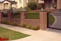 Brick Retaining Wall and Fence with Olympus Steel 02 ...