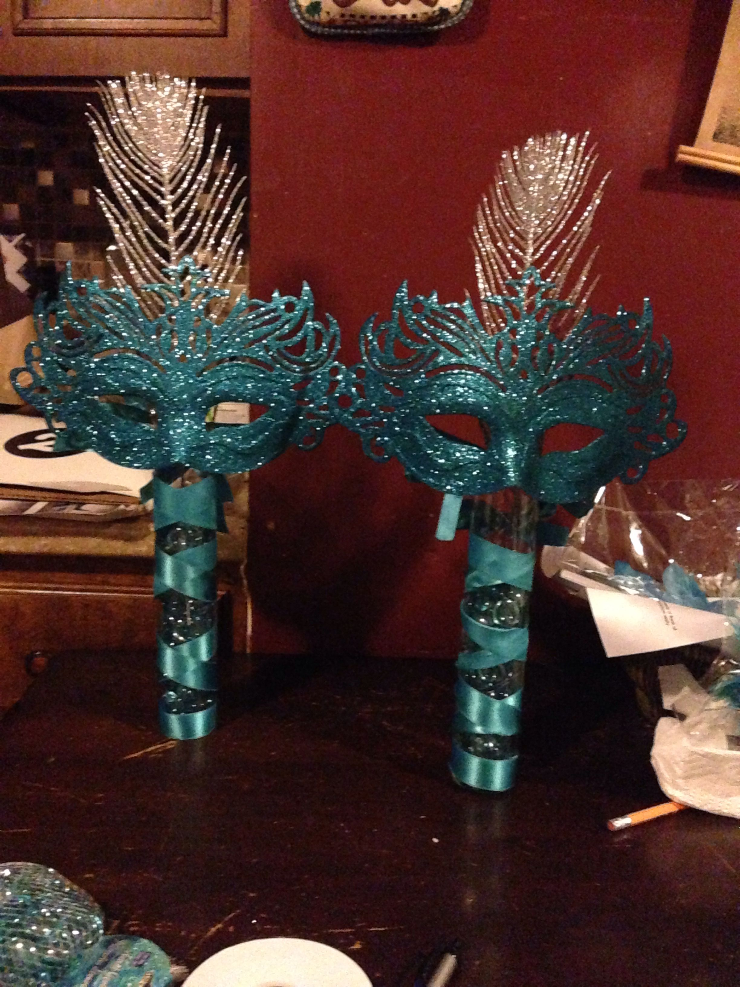 Table Decor And More Mask Centerpiece Table Decor Masquerade Centerpieces For