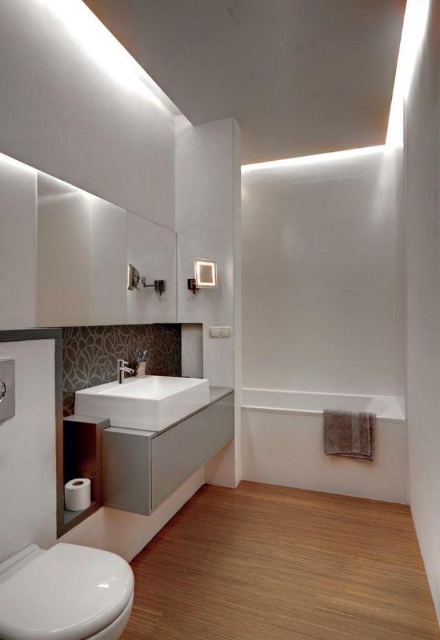badezimmer modern einrichten abgehängte decke indirekte - gestaltung badezimmer nice ideas
