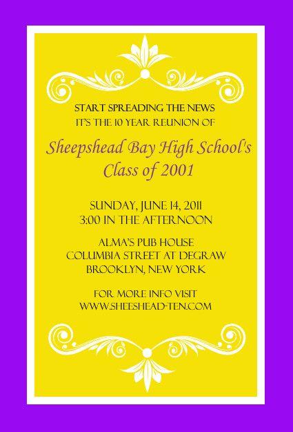 Bright Colored Class Reunion Invitation by PurpleTrail Party - class reunion invitation template