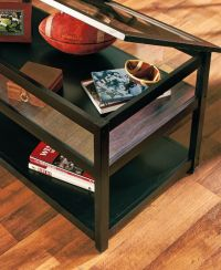 Glass Top Display Case Coffee Table - Home Design