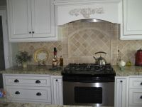 backsplash ideas white cabinets : Tile backsplash white