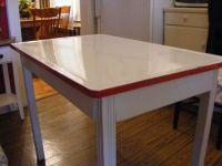 Enamel top baking table   Vintage Enamel Top Kitchen Table ...