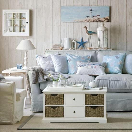 Beach style living room ideas that I love Cottage interiors - beach style living room