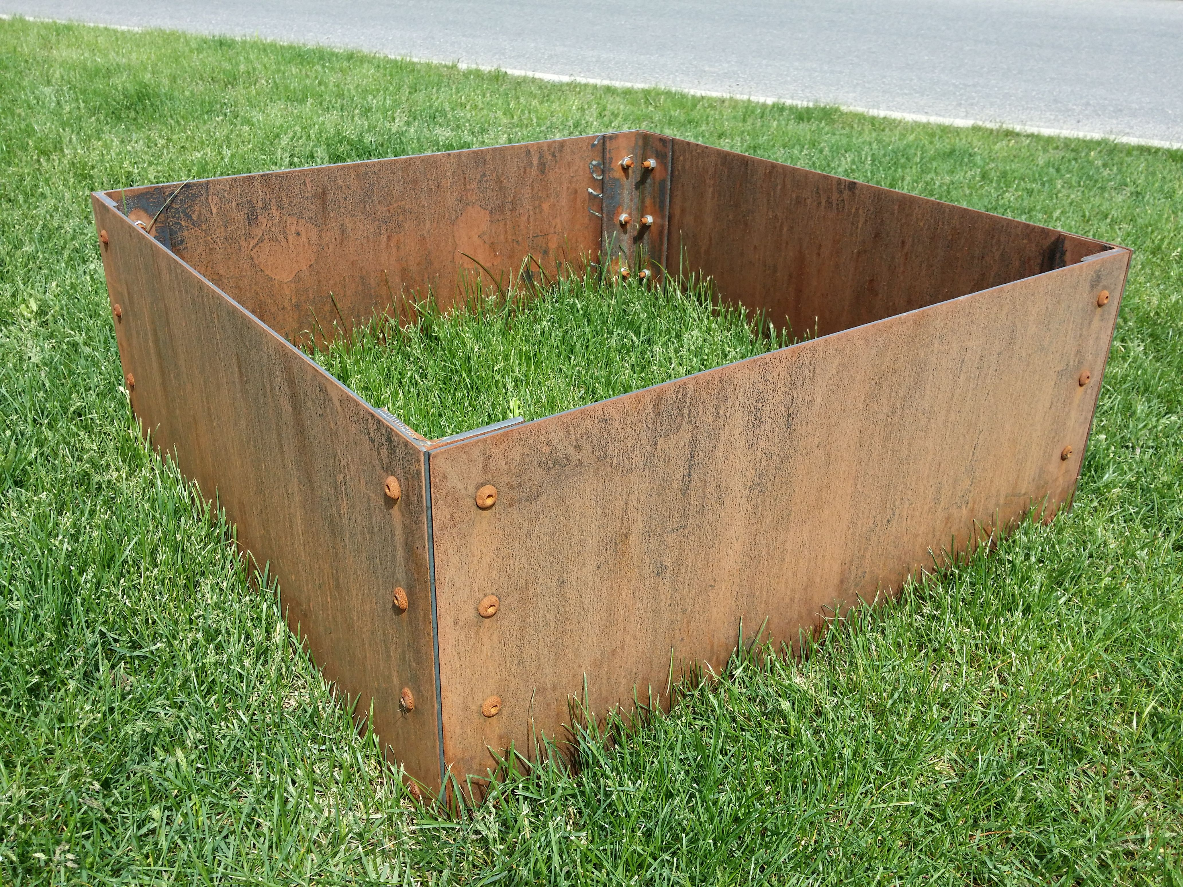 Metal Planter Boxes Small Corten Steel Planter Box With Rusty Patina Metal
