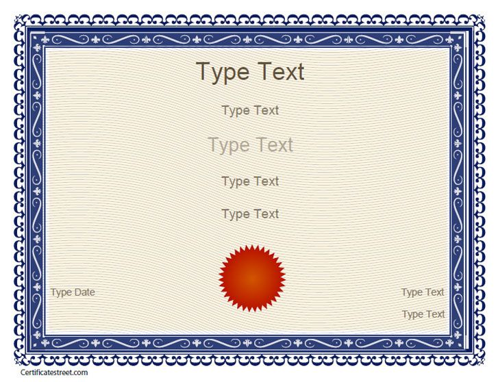 Free Certificate Templates Blank Certificates - Free Printable - free printable editable certificates