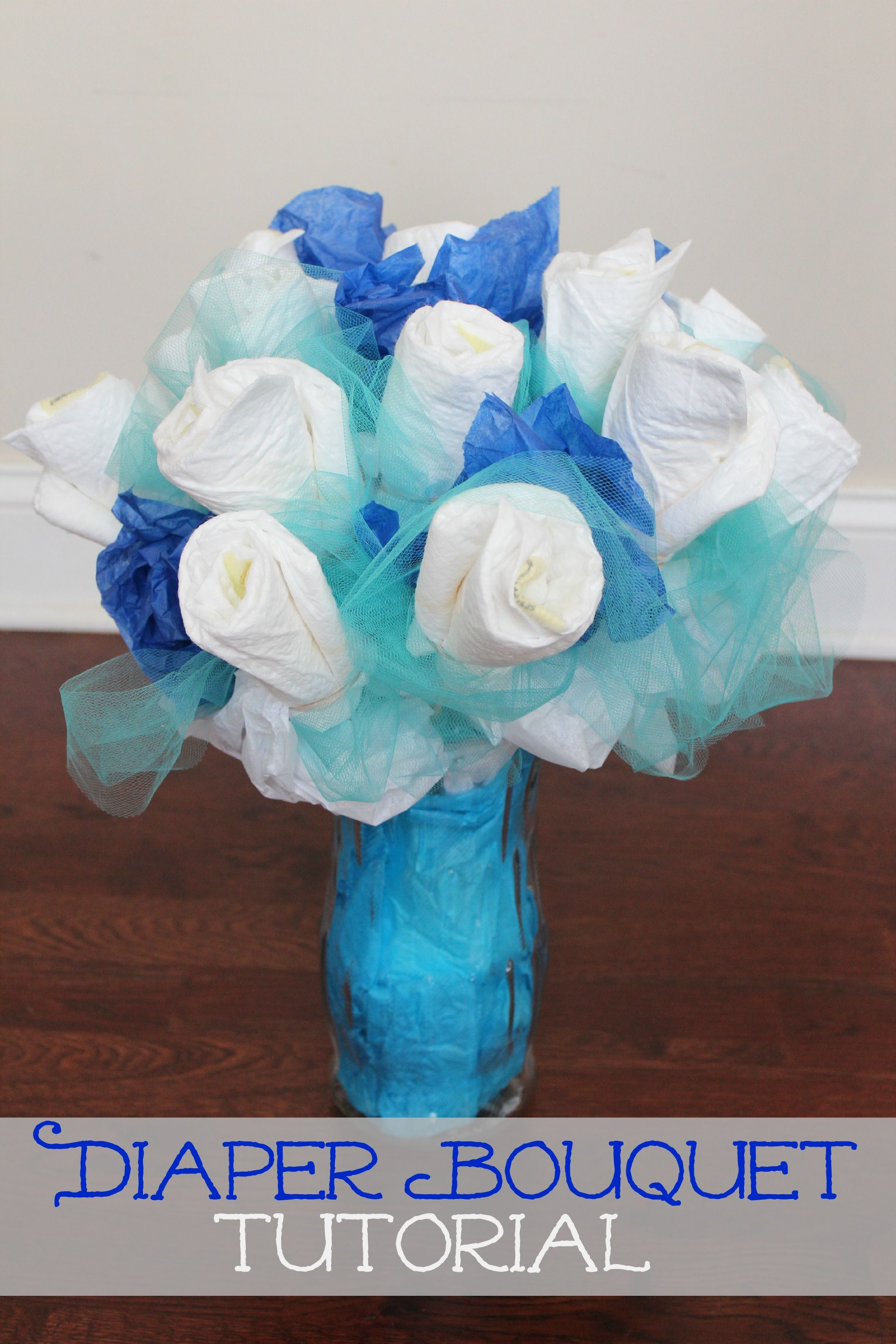 Diy Mothers Day Gifts From Baby How To Make A Diaper Bouquet Picture Tutorial Diaper