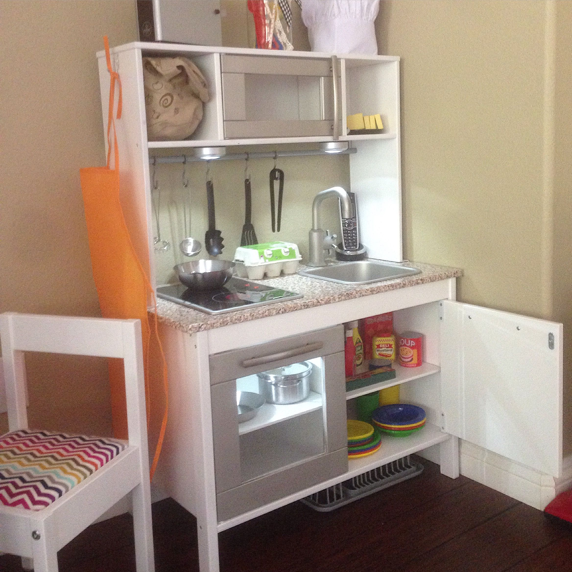 Ikea Hack Kinderküche Ikea Duktig Play Kitchen Hack Crafting Pinterest