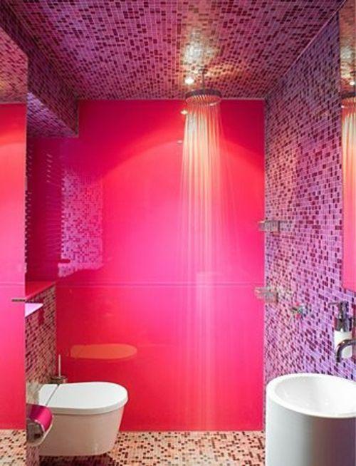 Badezimmer und Badezimmerfliesen farben designs dusche bad - badezimmer pink