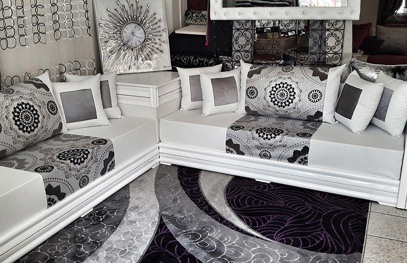 Salon Oriental Moderne Blanc | Salon Marhaba Salon Diamant