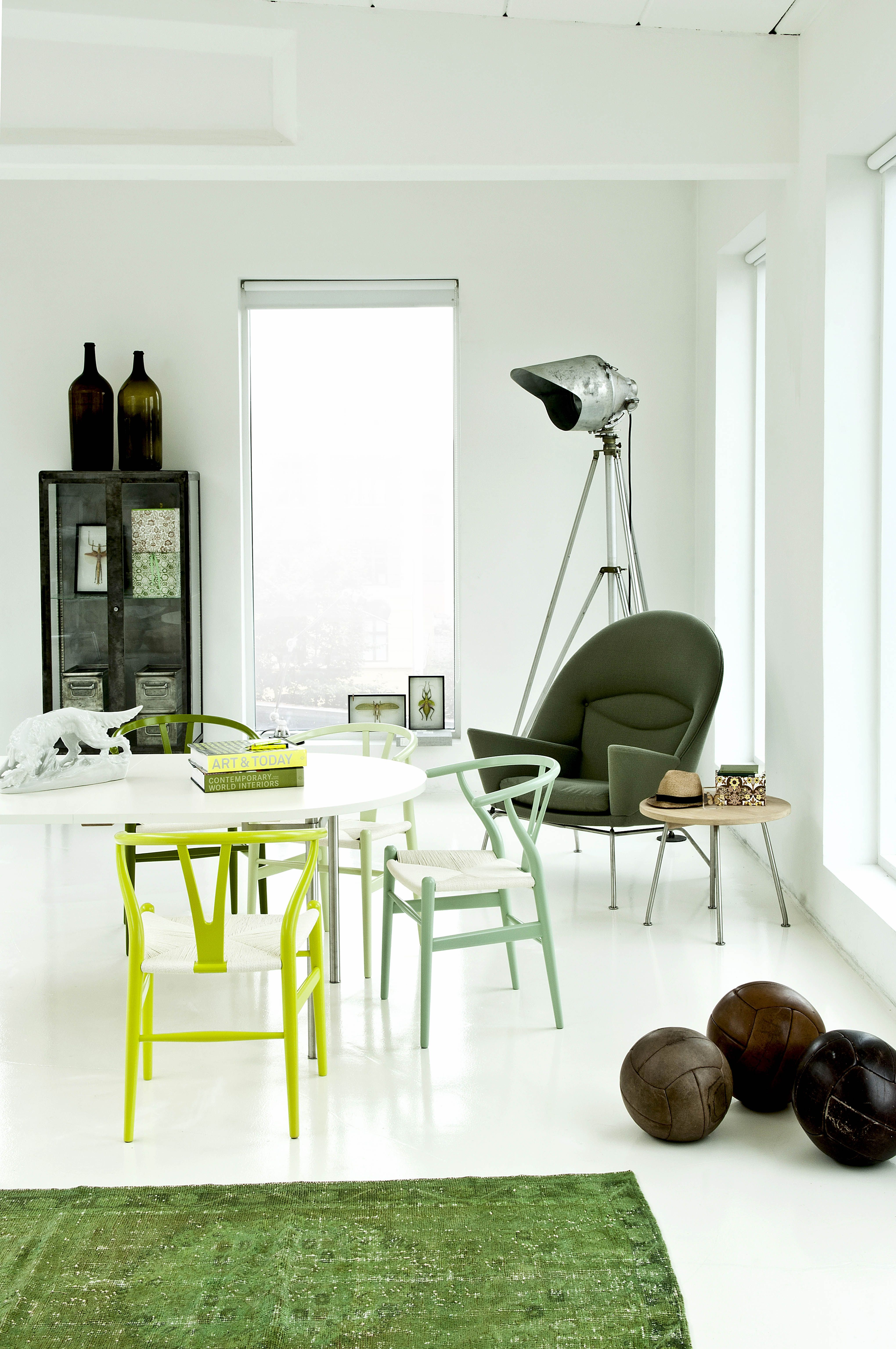 Grüne Stühle Küche Green Interiors Green Chairs Green Themed Room Carl