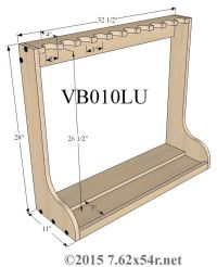 standing gun rack plans - Google Search | Wood structutes ...