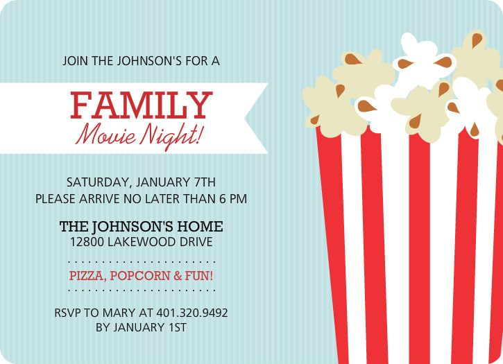 Family Movie Night Flyer Template kids party Pinterest Flyer - movie invitation template free