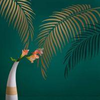 Palm Frond Wall Art Stencil from Cutting Edge Stencils