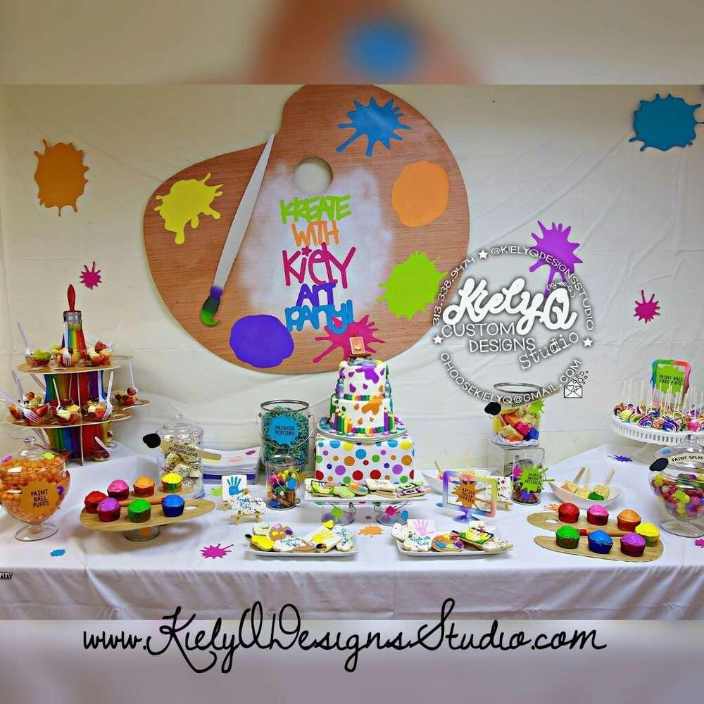 Arts crafts birthday party ideas