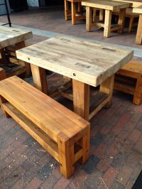 Table idea made from 6x4's | HOME - DIY | Pinterest | Woods