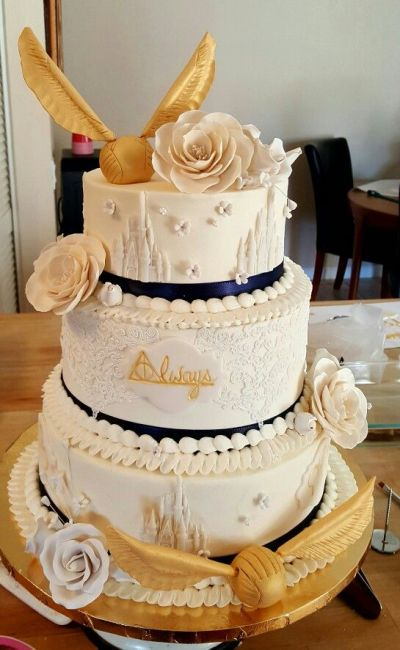Harry Potter wedding cake always | Cake ideas | Pinterest ...