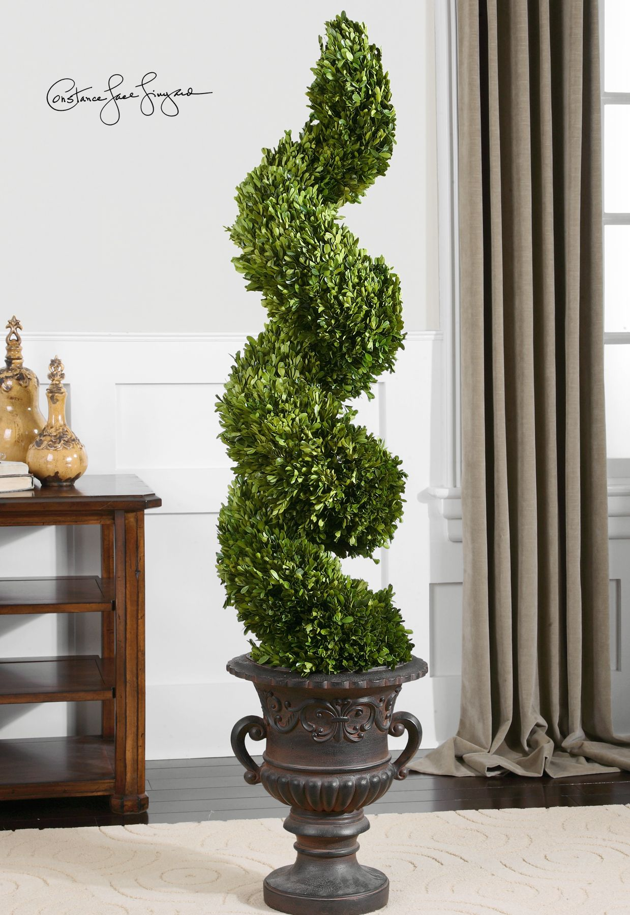 Uttermost preserved boxwood spiral topiary botanicals off coupon