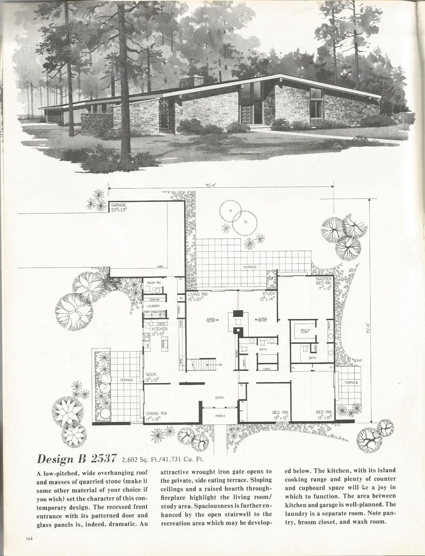 Retro Home Design Vintage House Plans Mid Century Homes 1960s Homes