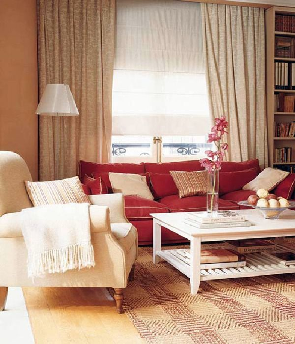 Casual and Colorful Living Room Design Ideas Living rooms - red living room chair